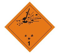 Class one explosives sign