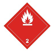 class two flammable gas sign
