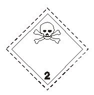 Class two toxic gas sign