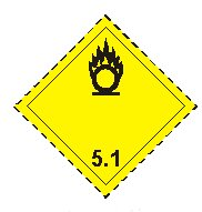 class five point one oxidising agents sign
