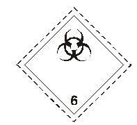 class six infectious substance sign