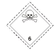 class six toxic substances sign