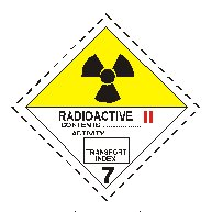Class seven radioactive material sign
