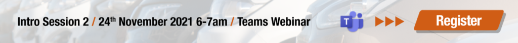 Intro Session 2 / 24th November 2021 6-7am / Teams Webinar